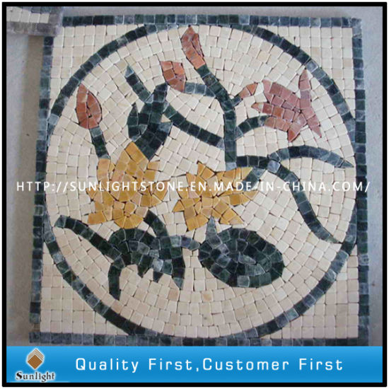 Custom Marble & Travertine Art Mosaic Idea Pattern for Floor Tiles pictures & photos