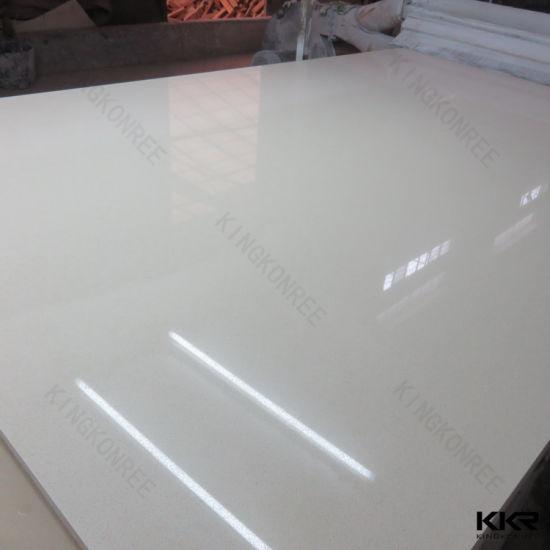 China Sparkle White Quartz Stone For Bathroom Vanity Top China