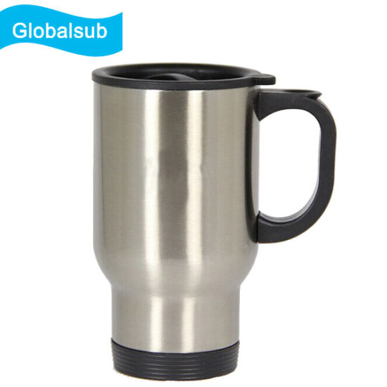 14oz Silver Stainless Steel Sublimation Travel Mugs pictures & photos