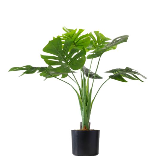 Faux Fake Tropical Palm Tree Artificial Plants Monstera for Decoration
