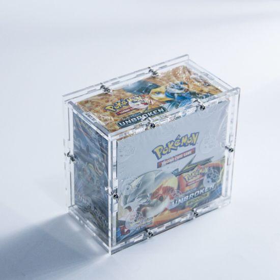 Dismountable Pokemon Acrylic Booster Box Case Protector with Screws