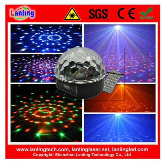 Remote Control DMX 6W Rgbywv Rotation Crystal Ball Party Light