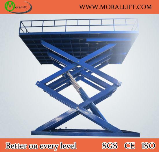 China Used Heavy Loading Stationary Hydraulic Scissor Lift Table