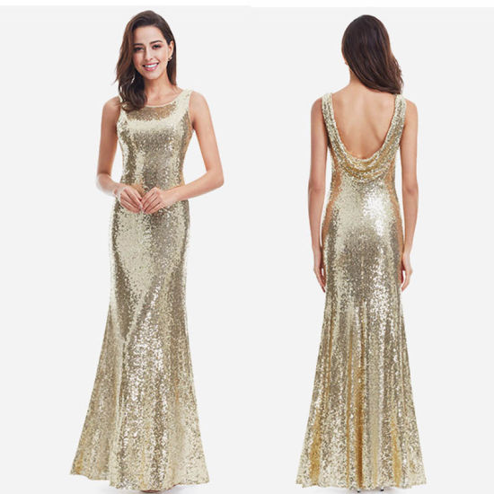 Gold Dress Women Evening Dress Long Evening Gown