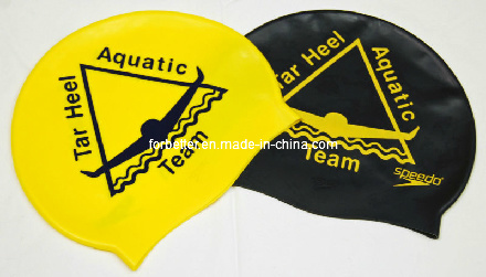 Custom Logo Printed Silicone Swim Caps pictures & photos