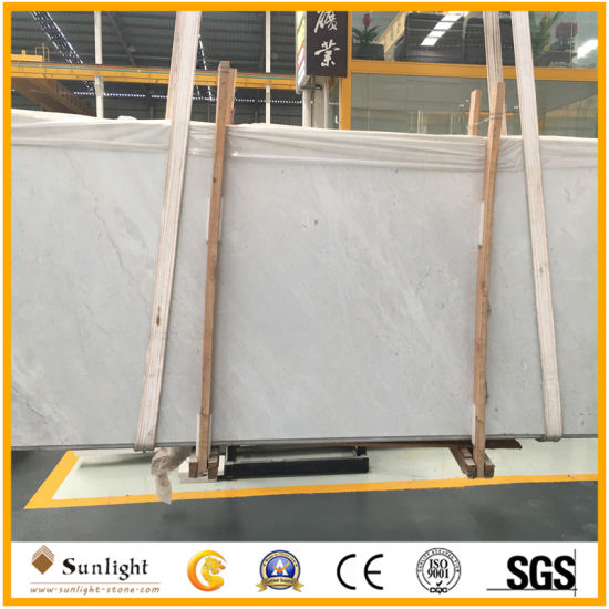 Natural Stone China Volakas White/Grey Marble Slabs for Interior Floor Wall Cut to Size Tiles