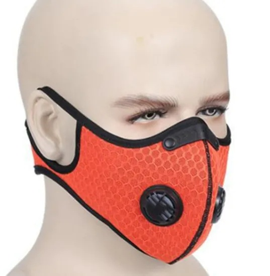 5 Layers KN95 Protective Washable Anti-Pollution Cycling Filter Half Sports Face Mask for Kids and Adults