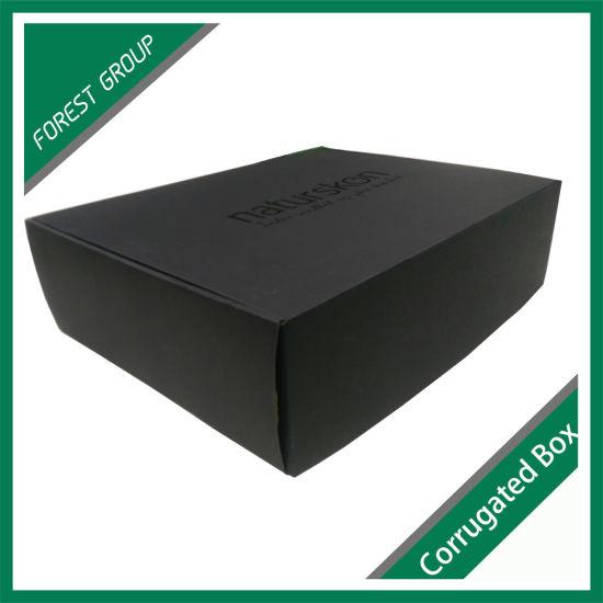 Dark Black Flat Storage Cardborad Kraft Box for Packing