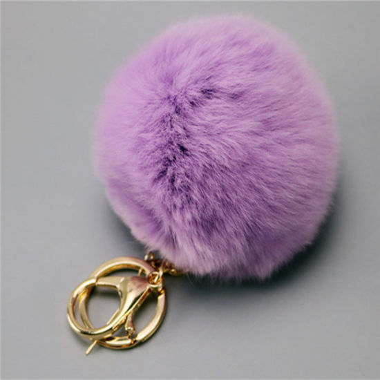 Pure White and Translucent Rabbit Fur Ball Key Chain pictures & photos