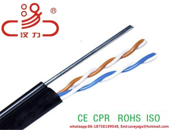 China Telephone Cable Drop Wire 2 Core 24AWG and 1core with ...