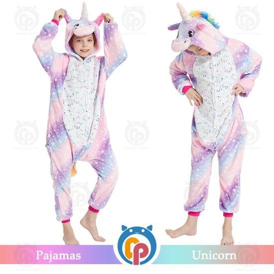 2020 Purple Unicorn Animal Children Pajamas for Wholesale