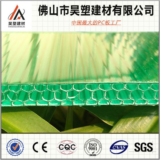 Honeycomb Polycarbonate Sheet Corlored Polycarbonate Sheet Polycarbonate Board PC Hollow Sheet pictures & photos