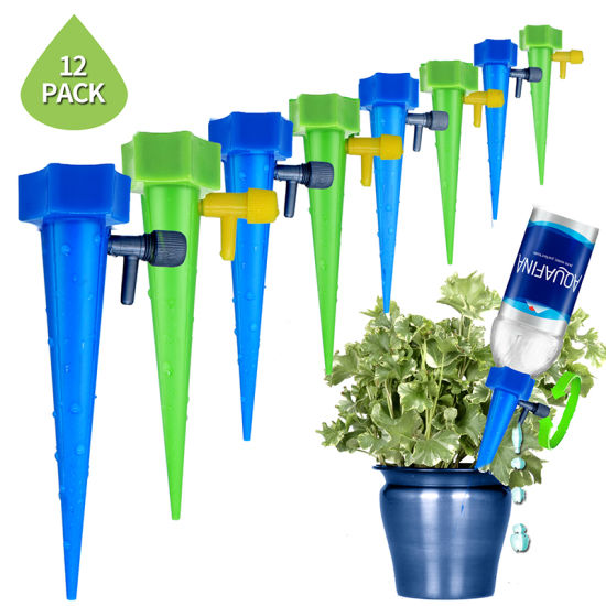 Automatic Watering Spike System with Slow Release Control Valve Switch for Plants Flower Household