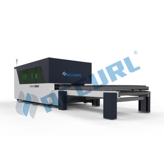 750W CNC Aluminum Sheet Metal Fiber Laser Cutting Machine