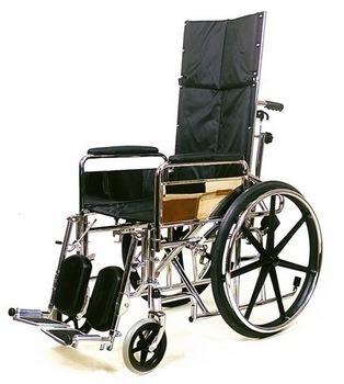 Recling Steel Multi Functional Wheel Chair for Elderly Handicapped Disabled