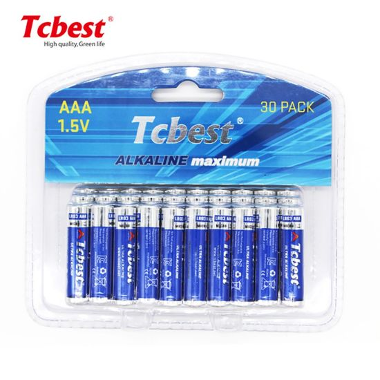 Hot Sale High-Powered Super Battery CE SGS MSDS Kc Approved 1.5V AAA Am4 Lr03 Dry Battery 1.5V AAA Rechargeable Alkaline Battery