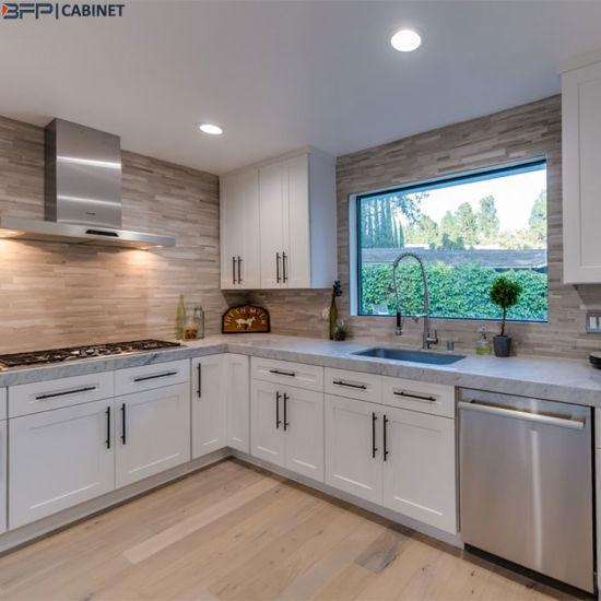 China U Shape Kitchen White Shaker Door Lacquer Matt Kitchen