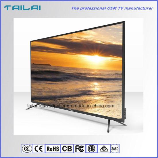 "Narrow Bezel 75"" 3840X2160 4K2K Aluminium Alloy Smart WiFi TV"