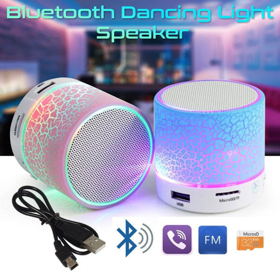 Bluetooth Speaker LED Portable Mini Wireless Speaker Player USB Radio FM MP3 Music Sound Colum for PC Mobile Phone