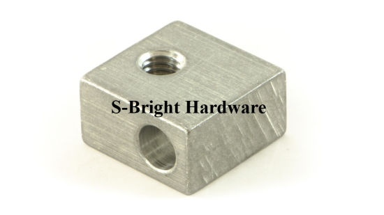 ODM Precision Aluminium 5052 CNC Lathe Parts for 3D Printer Heater Block (S-180) pictures & photos