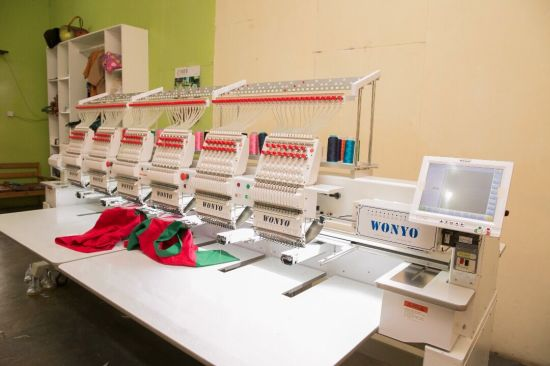 Industrial High Speed 6 Head Computerized Hat Embroidery Machine for School Uniform