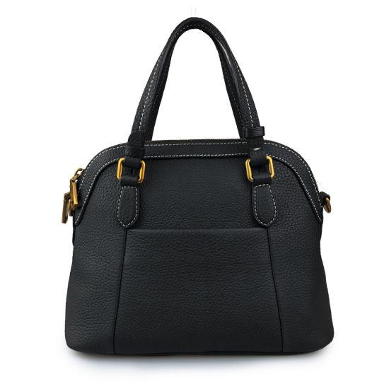 Lady Fashion Hand Bag Genuine Cow Leather Shoulder Handbag