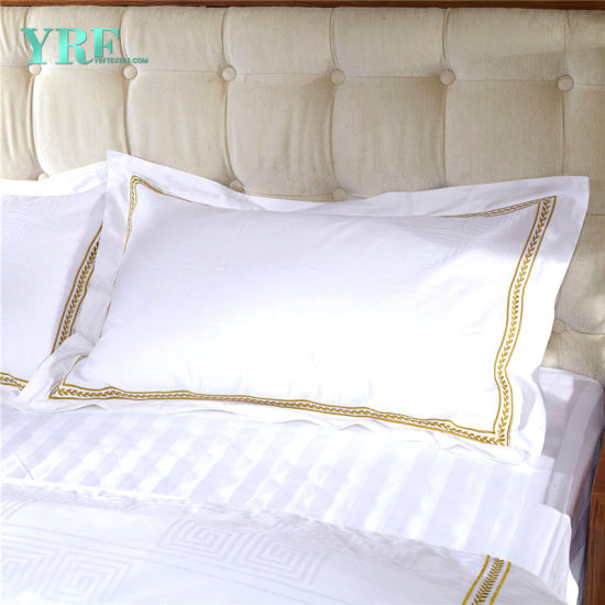 100/% Percale Cotton Sheet Set 4pc Ivory Stripe 400Tc Sateen Weave Bed Sheets