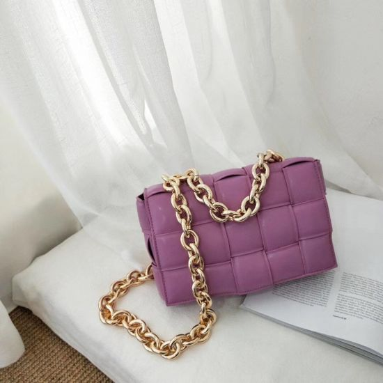 3361 Small Weave Flap Bags for Women New Fashion PU Leather Shoulder Crossbody Bag Female Handbags