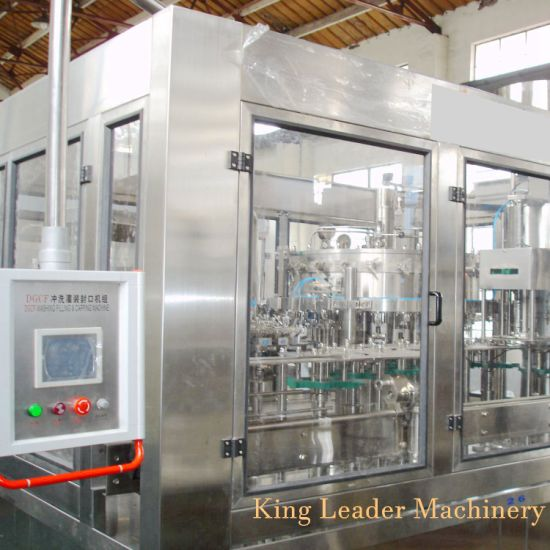 Full Automatic Gas Drink Filling Monobloc Machine