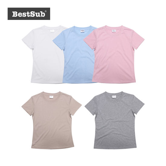 b46f6cc2f Bestsub Women′s Round Neck Polyester Short Sleeve Sublimation Heat Transfer  Printing T Shirt (