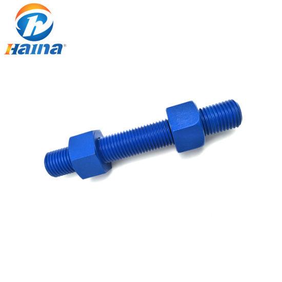 Made in China ASTM A193 B7 B8 B8m 5.8 8.8 10.9 Grade F1554 Gr 36 Xylan PTFE Teflon Double End Bolt / Anchor Bolt/Full Thread Stud Bolt with 2h Heavy Hex Nut