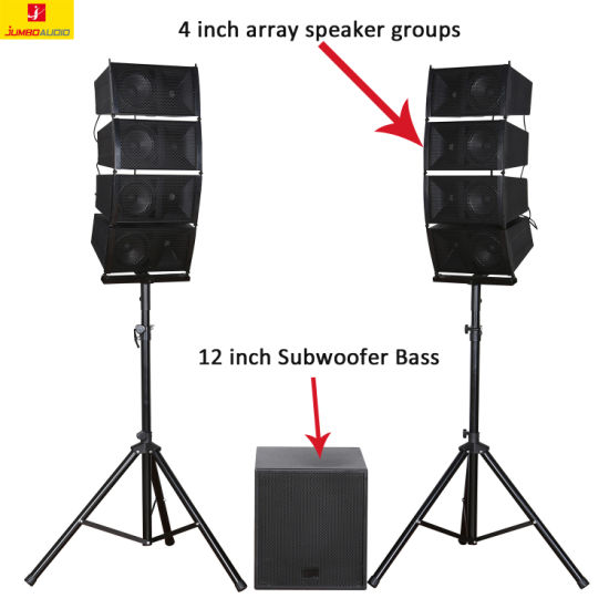 Line Array Super Subwoofer Bluetooth PRO Audio Stereo Speakers 12inch