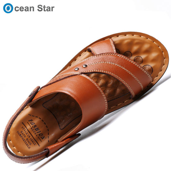 Latest Top Quality Dual-Use Men Sandals Low Price Genuine Leather Casual Sandals for Men