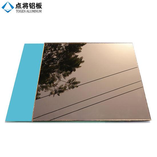 Factory 2 12mm Float Glass Sheet Bronze Mirror