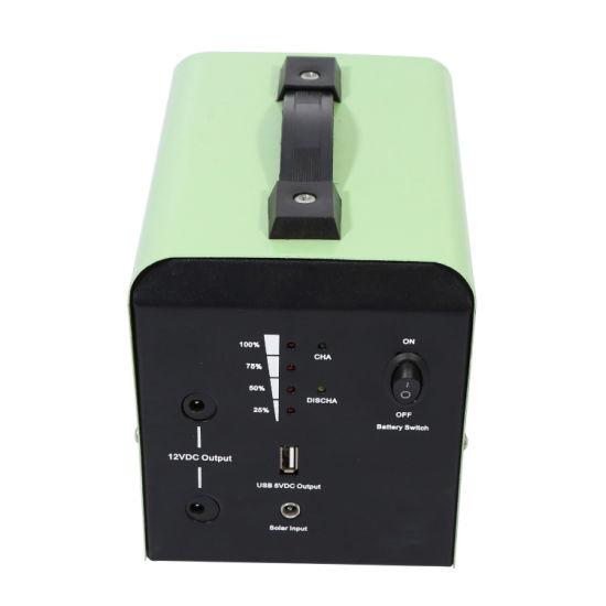Portable Solar Power System 12V 12ah 20W with 5W USB & 12V DC LED Light