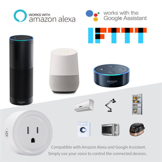 Timethinker WiFi Smart Socket 10A Remote Voice Control Us Adapter Ewelink  Smart Switch Work with Alexa Google Home Automation