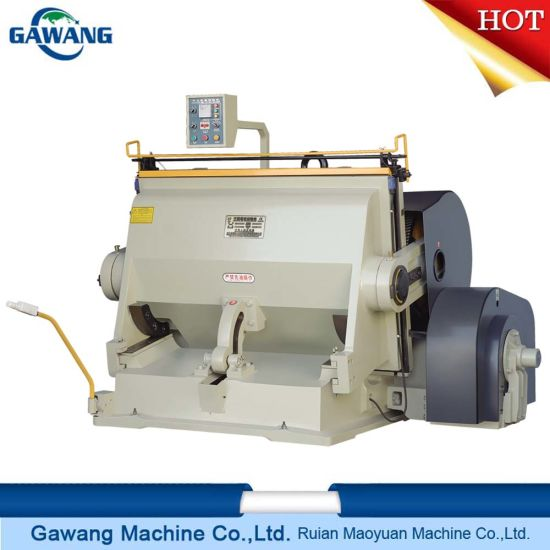 High Performance Reliable Quality Manual Platen Press Die Cutting and Creasing Machine Made in China with Ce Certificate