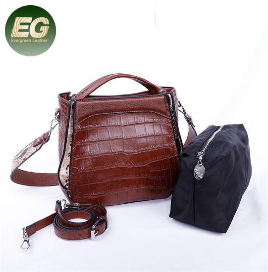 Fashion Woman Designer Handbag Sets Crocodile Skin Lady Bag Sh789