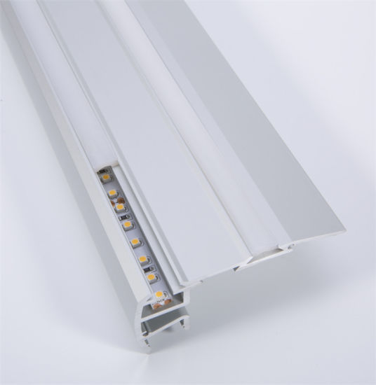 China Factory Stair Nosing Led Strip Aluminium Extrusions Edging Profiles Stairs Lighting Products