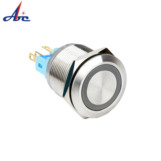 22mm Stainless Steel Momentary LED 6pin Push Button Switch