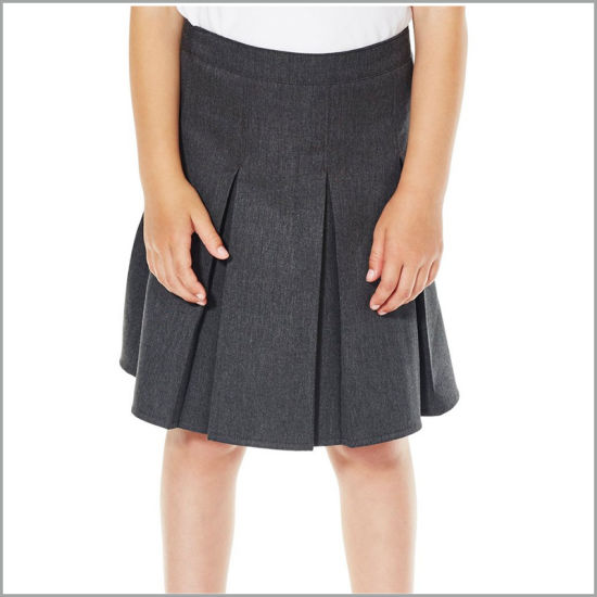 Custom Cotton Pleated Skirt International School Uniform for Girls