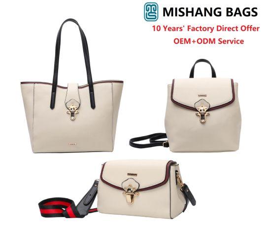 2019 Fashion OEM ODM Lady Handbag PU Leather Shoulder Bag Tote Handbags