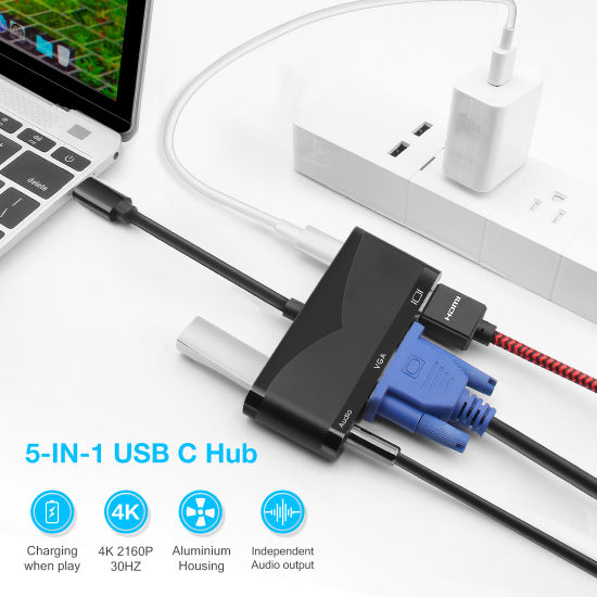 The USB-C/Type C/USB C Multiport Adapter pictures & photos