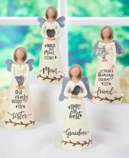 Resin Crafts Home Decoration Ornament Pure Angel Figurines