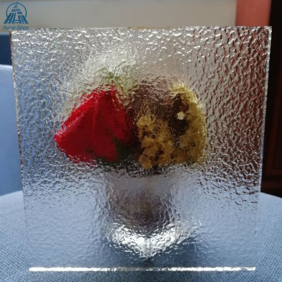 4mm 5mm 6mm 8mm Clear Rough Cast Patterned Rolled Glass for Partition