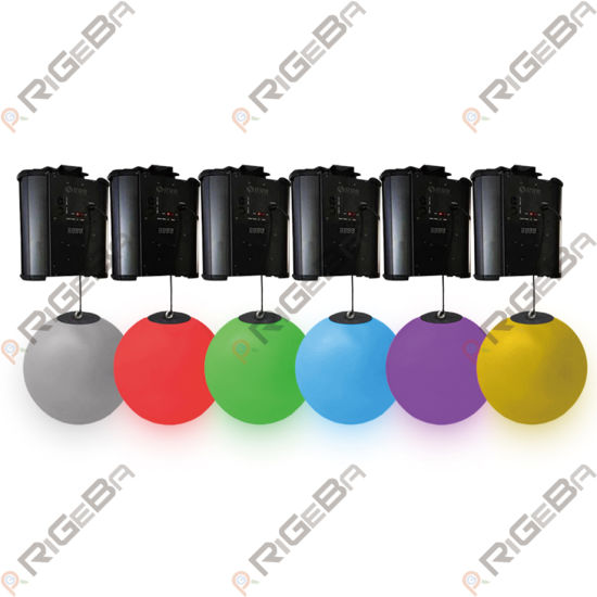 Hot Sale Rigeba Disco DJ Wave Effect Colorful 3D up Down DMX Winch Kinetic LED Lifting Ball for DJ Disco Stage Party Event