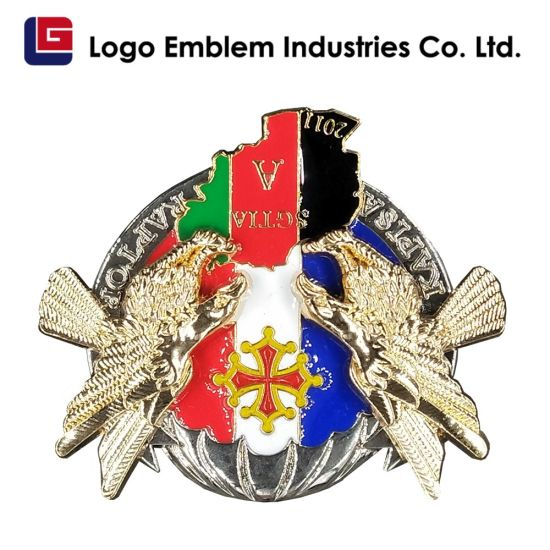 Custom Logo Police & Security Officer Badge - Hard Enamel Cloisonne