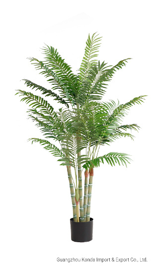 Artificial New Style Hot Selling Bamboo Palm Green  Plants