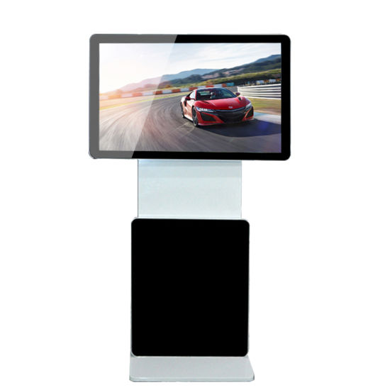 55 Inch Android and Windows Touch Screen Vertical Floor Standing Rotary Advertising Display