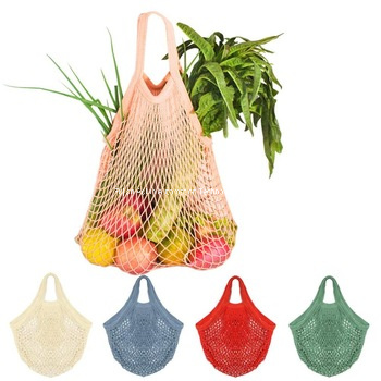Net Shopping Tote Bag Reusable Cotton String Grocery Bag Mesh Produce Bag Fruit Vegetable Storage Bags